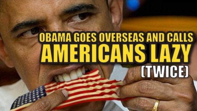 奥巴马说美国人太懒,美国人民炸了