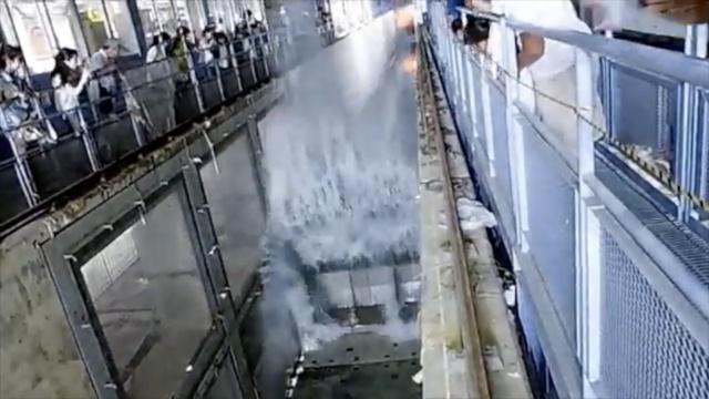 实拍日本福岛7.4级地震震撼现场