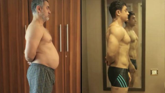 印男神阿米尔汗:5个月从爆肥到猛男