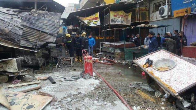 巴格达发生两起爆炸,至少18人死亡