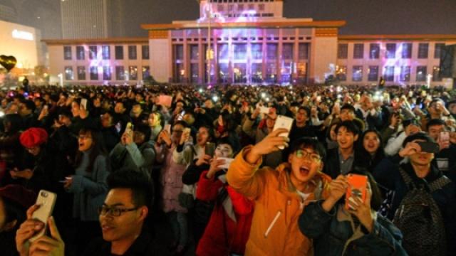 杭州武林广场跨年狂欢迎新年