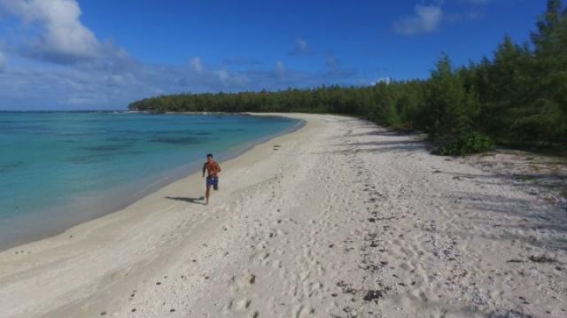 毛里求斯 海边晨跑