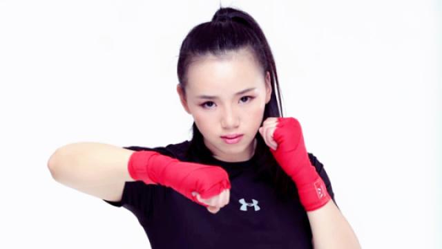 中国美女拳手用拳头打出一片天