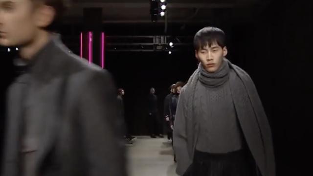 2017秋冬纽约男装周:深色系层次感