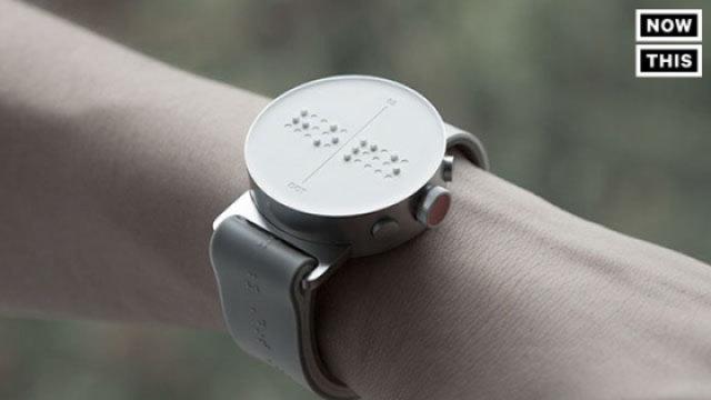 第一款专为盲人设计的智能手表图片