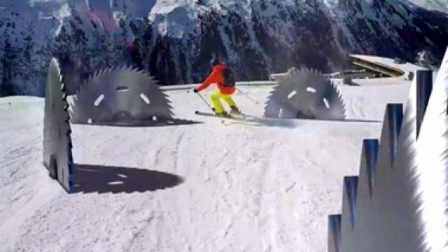 一条疯狂的滑雪坡道,我想说城会玩
