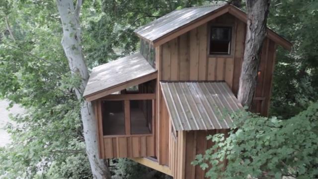 给她造一个树屋,过世外桃源的生活