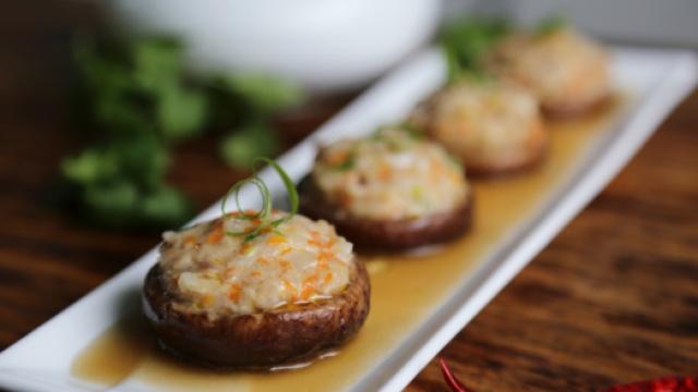 吃一次就会爱上的味道,鲍汁香菇酿