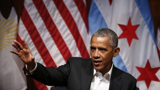 奥巴马开讲,卸任后首次公开亮相