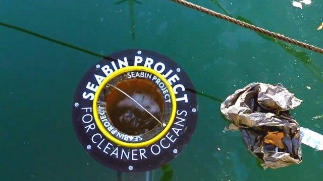 新水上垃圾桶,只吸垃圾不伤鱼