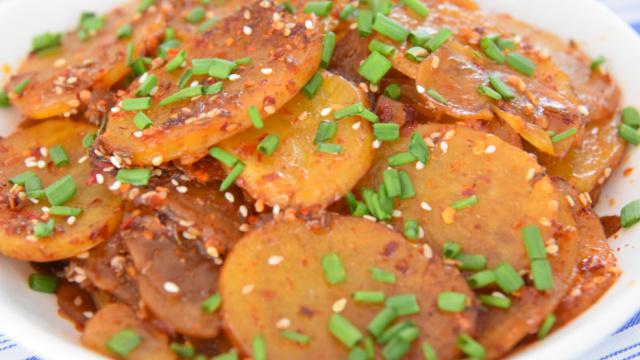 普通家常菜——孜然土豆片