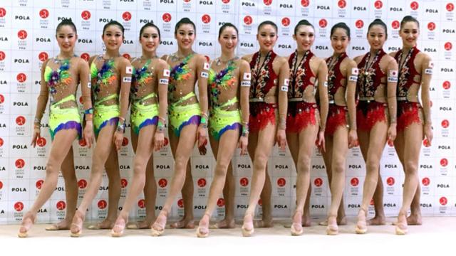 日本艺术体操新团,个个是长腿美女