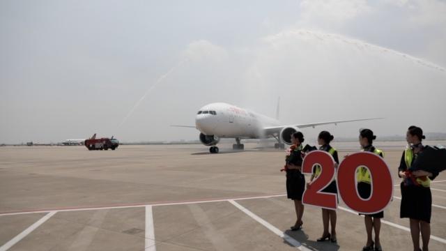 高端大气!东航迎来第20架波音777
