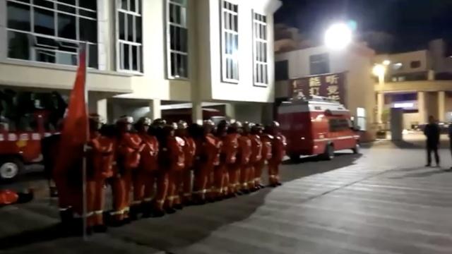 视频 九寨沟地震,各地消防奔赴震中