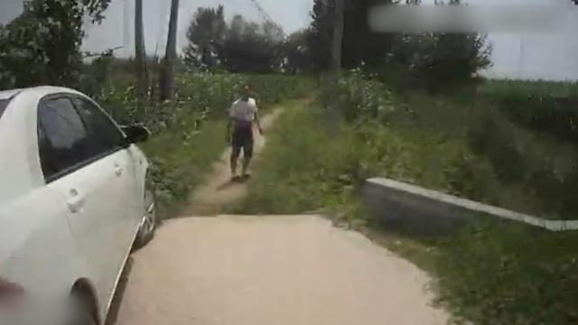 车未审遇查,他开进田间地头:到家了