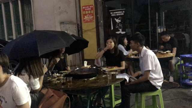 重庆人多爱吃火锅?没灯下雨不耽误