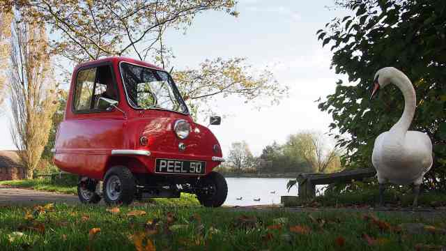 可单手提起拖着就走,世上最小的车
