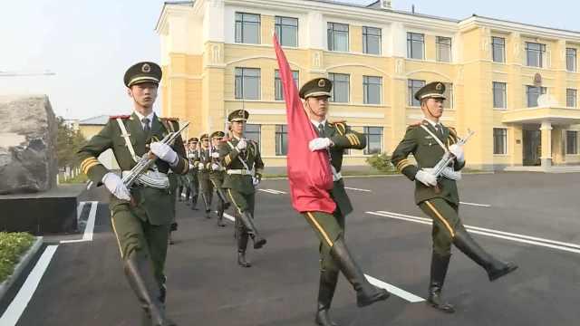 中国最北国旗护卫队,迎朝阳升国旗
