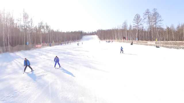 最低气温-15℃!漠河开启滑雪模式
