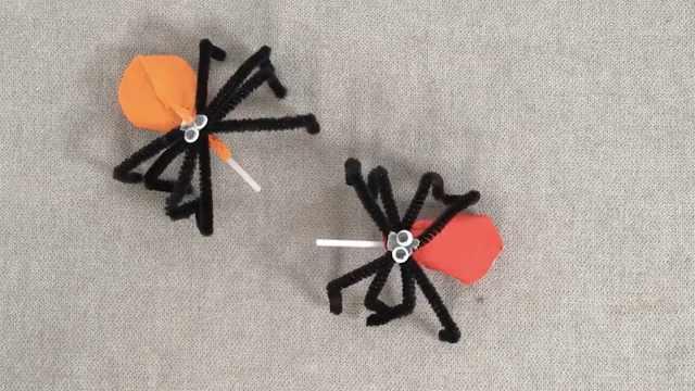 万圣节捣蛋必备!南瓜棒棒糖蜘蛛