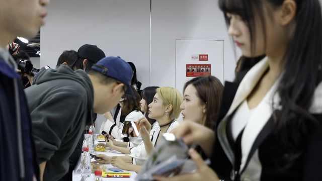SNH48来重庆,重庆粉丝连排3次队