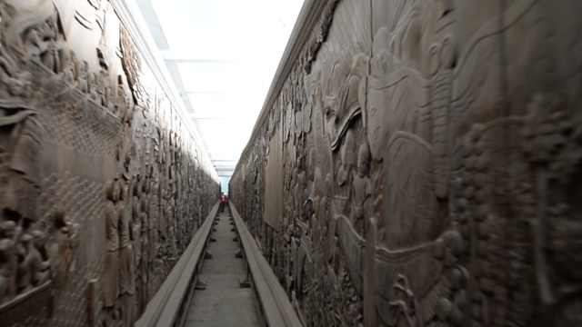 万吨乌木600工匠14年打造木雕长廊