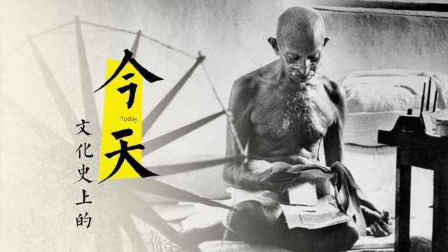 圣雄甘地第一次接受电视采访