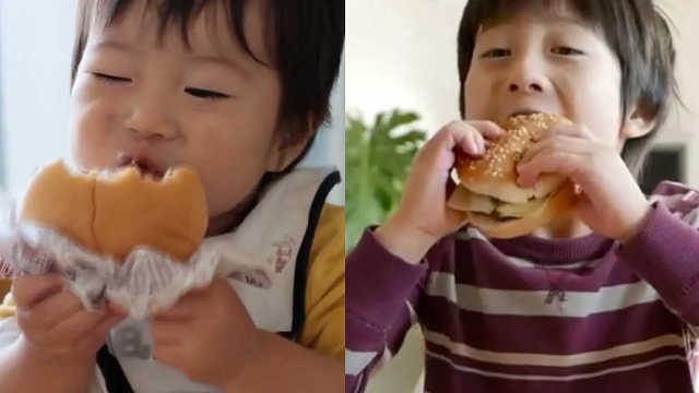 1岁到8岁,萌娃对汉堡的爱一直没变
