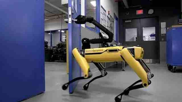 机器人狗会为同伴开门,还学会断后