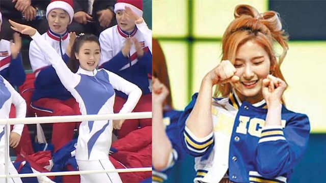 朝鲜拉拉队第二弹:伴韩流跳民族舞