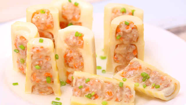做一盤時令刮油菜:春筍釀肉