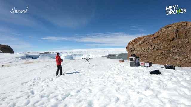 南极也能飞无人机?航拍中国中山站