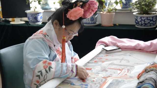 她用198天绣«千手观音»,传艺聋哑人