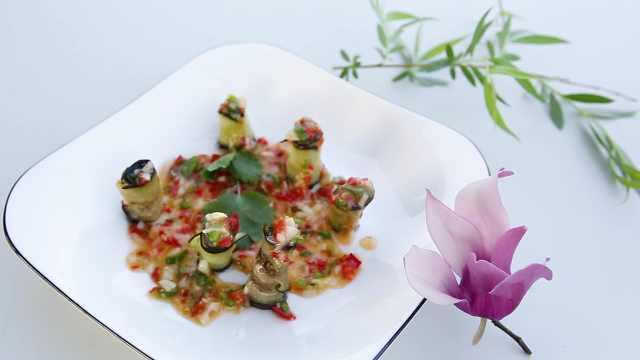 香煎茄子卷,一道简单的家常菜