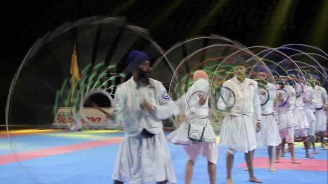印度人的传统武术,感觉很花哨