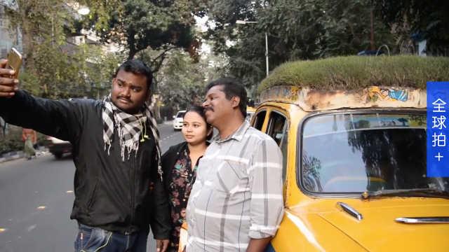 环保!印度司机大叔在出租车顶种草