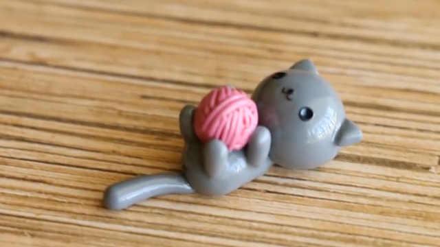 超轻粘土diy可爱的小猫咪