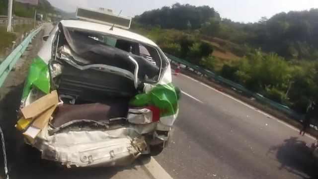 乘客瞎指挥,的哥高速匝道停车被撞