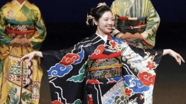 东京奥运制和服,中国款绣万里长城