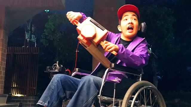 日本发明家用Labo为心脏病童改轮椅