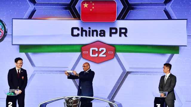 亚洲杯分组,孙继海为中国抽到上签