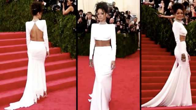超惊艳!蕾哈娜的红毯造型回顾