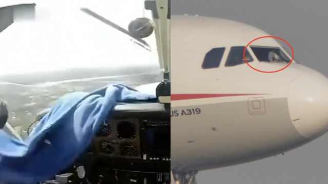请相信我们!客机挡风玻璃破碎迫降
