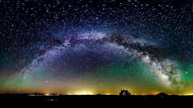 阿拉斯加延时摄影,炫彩星空如仙境