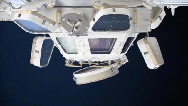 上帝视角!宇航员演示如何观察地球