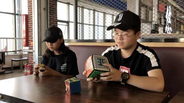神操作!大2男生用魔方玩俄罗斯方块