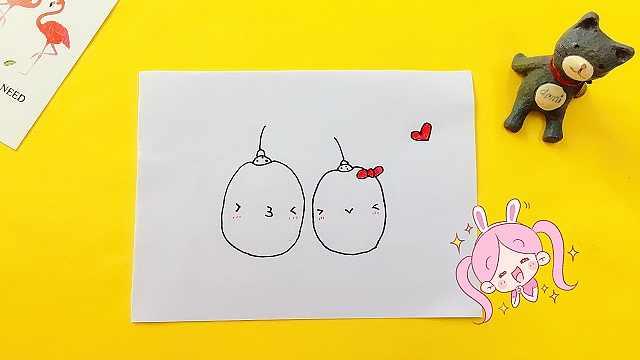 domi一分钟教你手绘可爱水果团子