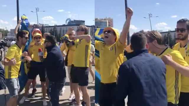 瑞典球迷人数完爆韩国,豪言2球完胜