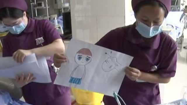 一看就懂,护士为ICU病人手绘漫画卡
