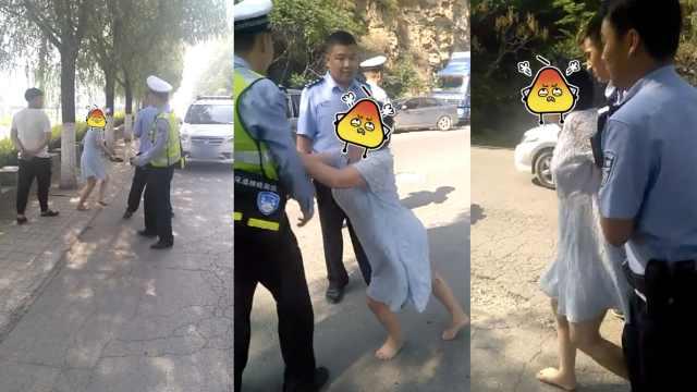 他酒驾遇查,同车女脱高跟鞋打民警
